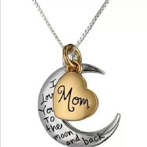 Jewelry - Mom I Love You To The Moon Necklace Mother